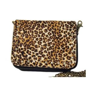 Tigerstars Leopard Print Genuine Leather Bag